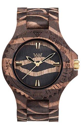 WEWOOD Reloj Unisex - Date Nature Zebra Nut