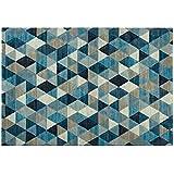 Alfombra Moderno Dibujo estampado a rombos azules – Alfombra (lana sintética Sitap Laguna 63263 – 5161
