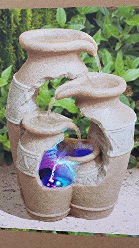 Brunnen Amphore- Kaskade mit LED Beleuchtung