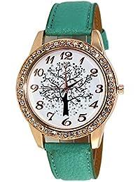 ca1580d4a0c7 Gysad Reloj de Pulsera Patrón de arbol de la Vida Reloj de Cuarzo Mujer  Ajustable Reloj para Hombre Decoración de…