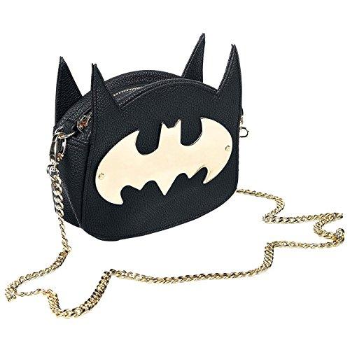 Officiel Character DC Comics Batman Noir Cross Body Sac à main avec les oreilles - Cosplay