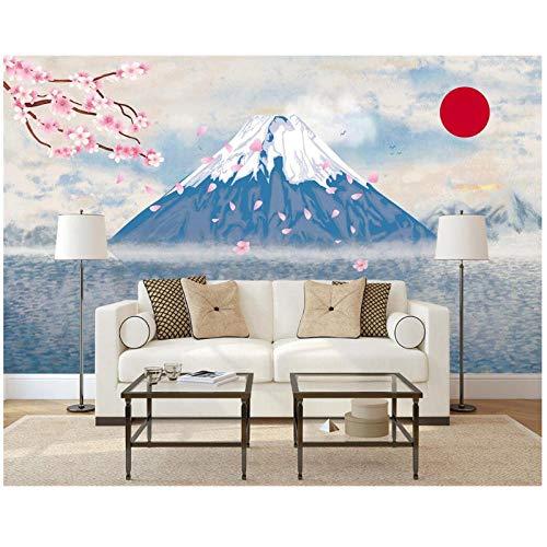 Benutzerdefinierte Tapete-Wohnkultur Wandgemälde gemalt-abstrakten japanischen StilKirsche-TV Hintergrund Wand-3d TapeteVlies 300 (B) x200 (H) 9'2
