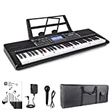 Vangoa VGK6200 61 Light-up Keys Electronic Piano Keyboard with LCD Display, Lighted Full