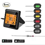 Küche Thermometer, aidmax PRO03, Wireless Fleisch Thermometer für Grillen, Bluetooth Digital Kochen Thermometer, Dual Sonden Smart BBQ Thermometer für Räucherofen und Grill