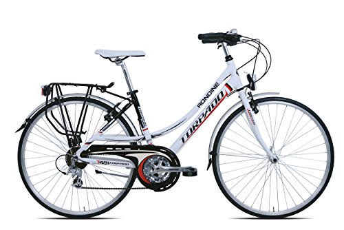 TORPADO BICICLETA CITY TURISMO RONDINE 28 MUJER 3 X 7 V TALLA 44 BLANCO (CITY)/BICYCLE CITY TOURING RONDINE 28 LADY 3 X 7S SIZE 44 WHITE (CITY)