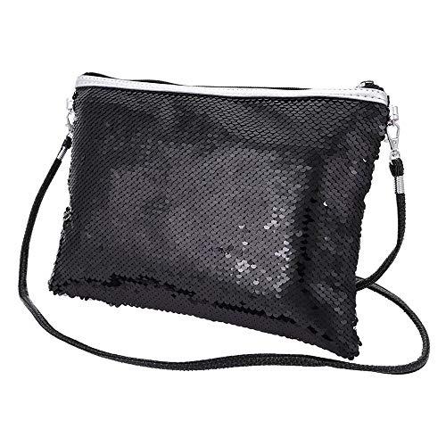 Zolimx Damen Geldbörse Mode-Outdoor-Solid Color Pailletten Handtasche Schultertasche Tote Farbwechsel einseitige Umhängetasche Kosmetiktasche ()