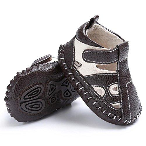 Pour 0-18 mois Bébé,Transer ® Bébé fille garçon baskets anti-dérapant chaussures à semelle souple Marron