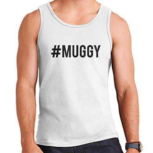 Love Island Hashtag Muggy Mike Black Men's Vest White