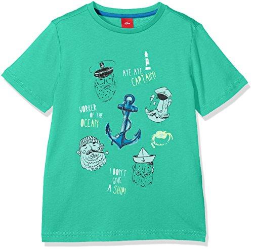 s.Oliver Jungen T-Shirt 63.802.32.6769, Grün...
