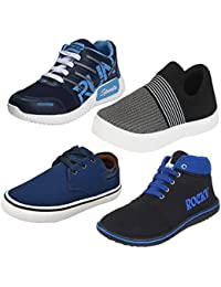 Bersache Men Combo Pack Of 4 Casual Shoes With Sports Shoes & Loafers & Moccasins