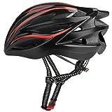 Six Foxes Fahrradhelm 2018 Specialized Damen Herren Fahrrad Helm, 57-62cm  (Rot)
