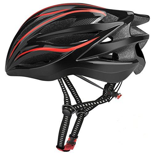 Six Foxes Fahrradhelm 2018 Specialized Damen Herren Fahrrad Helm, 57-62cm  (Rot) (Kind Specialized Fahrrad Helm)