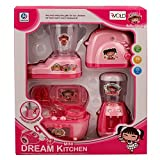 #4: Babytintin Battery Operated Pink Household Home Apppliances Kitchen Play Sets Toys for Girls (A)