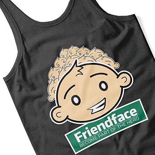 Friendface IT Crowd Men's Vest Black