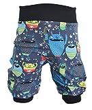 Pumphose,Babyhose,Kinderhose Monster blau (86/92)