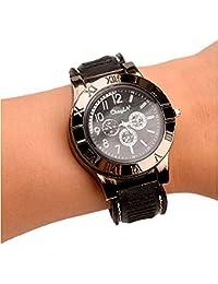 Nuevo Militar USB mechero reloj de Hombre Casual relojes de pulsera con resistente al viento sin llama mechero encendedor de cigarros, Color gris metálico