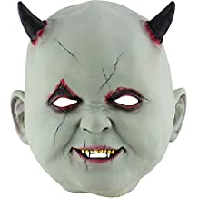 Masque Terrifiant Accessoire Halloween Petit Diable Vampire Halloween Masque Terroriste Zombie Hantée Maison Dressing Escape Dress Up Props Couverture de laTête