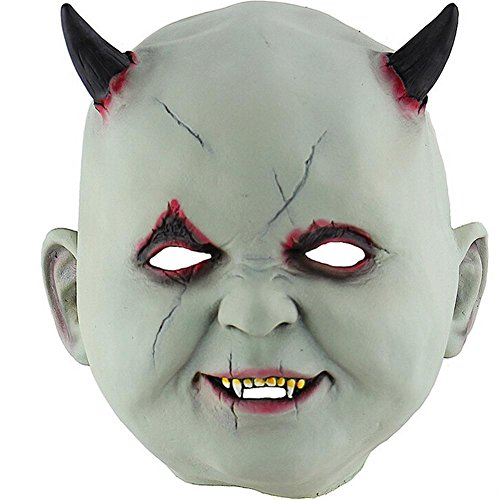 favourall Little Devil Vampire Halloween Mask Terrorist Zombie Haunted House Dressing Room Escape Dress up Props Head Cover