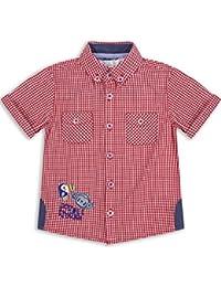 The Essential One - Bebé Infantil Niños Camisa - Rojo/Blanco - EOT229