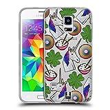 Head Case Designs Einhorn Patch Styles Soft Gel Hülle für Samsung Galaxy S5 Mini