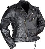 Lederjacke Leder Jacke für Biker Chopper Mottoradjacke Motorrad Rocker Punk Rockabilly
