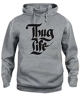 nuovo di zecca 3d96b 3feac New Indastria Felpa Cappuccio Unisex Thug Life Rap Tupac ...