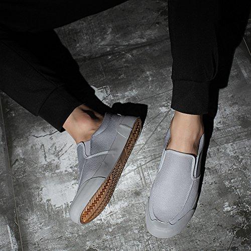Chaussures de toile Hommes Chaussures de toile Hommes Chaussures de sport en plein air Exercice Sneakers travail ( Color : Rouge-43 ) Gray-41