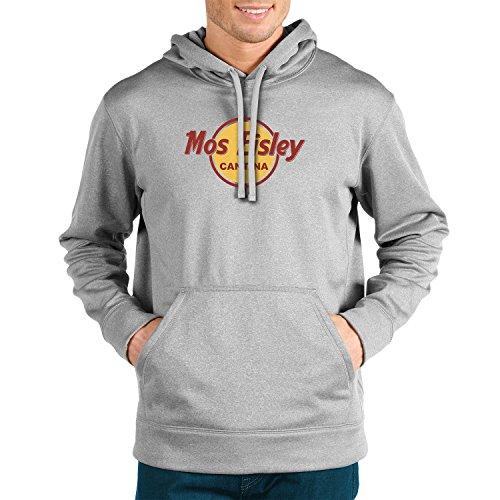 Mos Eisley Cantina - Herren Hooded Sweater, Größe: XL, Farbe: grau meliert