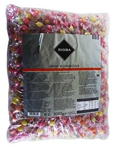 RIOBA Mini Bonbons, 1er Pack (1 x 3kg) Mini-bonbons