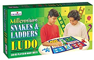 CREATIVE EDUCATIONAL Millennium Ludo Snakes and Ladders Board Game