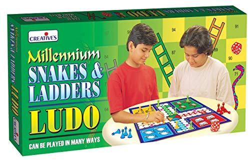 Creative's Millennium Snakes and Ladders Ludo Board Game (Multi-Color)
