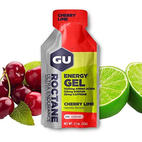 GU Roctane Ultra Endurance Energy Gel, Cherry Lime (Kirsch Limette), Box mit 24 x 32 g