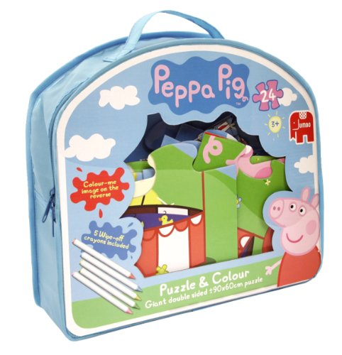 Peppa Pig Giant Double-Sided Puzzle and Colour Jigsaw Puzzle (24 Pieces)