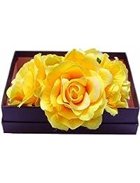 Diademas de Flores,Mujer Flor del Tocado,Flores de Pelo Cabeza para Mujeres