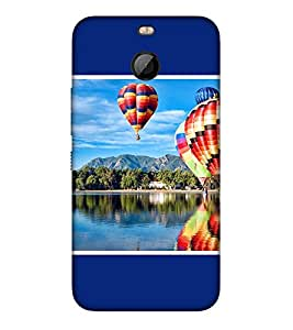 Takkloo big balloon colourful balloon,Blue background, flying balloon, blue sky, blue water) Printed Designer Back Case Cover for HTC Bolt