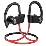 Auriculares Bluetooth Audífonos inalámbricos hidrófugo IPX7,Auriculares inalámbricos Audífonos Deporte con micrófono, 8 Horas de Auriculares de reproducción para el Correo en el Gimnasio