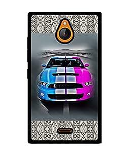 Fuson 2D Printed Car Designer back case cover for Nokia X2 - D4144