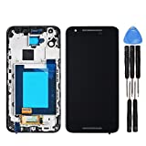 LL Trader for Lg Google Nexus 5X H790 H791 Black LCD Display and Glass Touch Screen Digitizer with Frame Assembly Replacement with Tools
