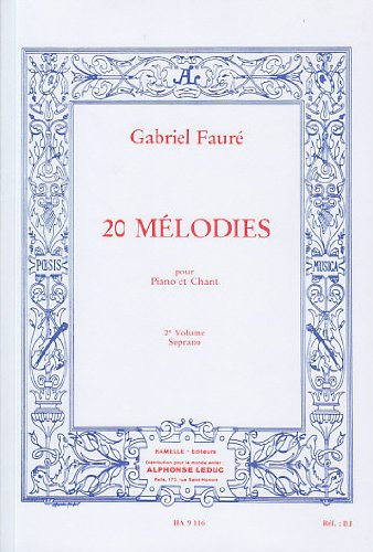 60 Mélodies en 3 Volumes, Volume 2 : 20 Mélodies