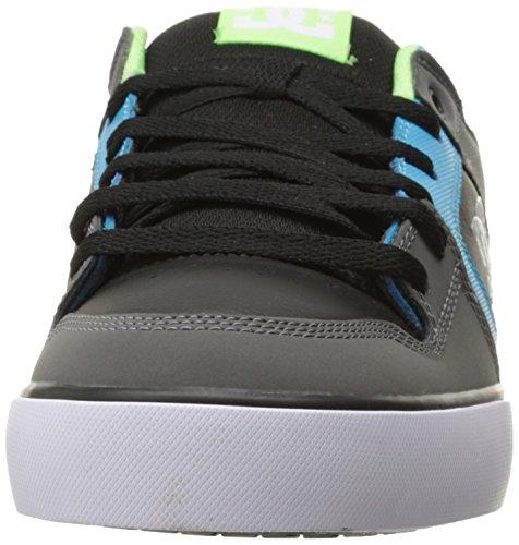 DC Shoes Pure Slim Shoe, Chaussures de skate homme Grey/Green/Blue