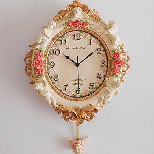WXIN Uhren Wanduhr Handwerk Clock Geschenk Uhren Wohnzimmer Still Wie In Der Abbildung Angezeigt.