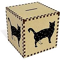 Preisvergleich für Azeeda Groß 'Stehende Stern Katze' Sparbüchse / Spardose (MB00046560)