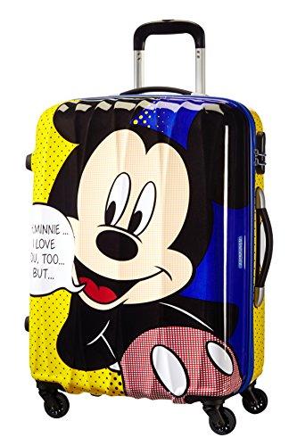 Disney By American Tourister Disney Legends Valigia 65/24 Alfatwist, Policarbonato, Mickey Pop, 52 litri, 65 cm