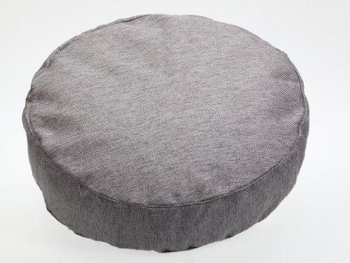 Möbel Akzent Sitzgelegenheiten (Sauermilch 1304601500186 Lodge Bodenkissen rund, 60 x 15 cm, grau)