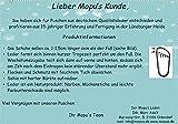 Mopu's® Krabbelschuhe – ÖKOLEDER – Exklusiv in blau mit rotem Luftballon Gr.20 - 2