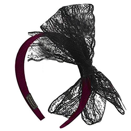 Zoylink Haarband Bogen Stirnband Dekorative Retro Spitze Bogen Haarband Party Stirnband Party KostüM FüR Frauen (Passende Kostüme Für Freund Und Freundin)