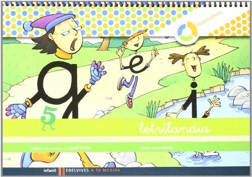 Letrilandia Lectoescritua cuaderno 5 de escritura (Cuadricula) (A tu medida (Entorno Lógica Matemática)) por Aurora Usero Alijarde