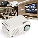 Haihuic Mini videoproiettore portatile, (EU Plug) Proiettore multimediale Home Theater per bambini. Miglior regalo di Natale. Home Theater