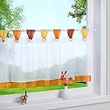 Bunte kleine Kaffee Vorhang Terri Garn Raffrollo H*B 45*90cm, Orange