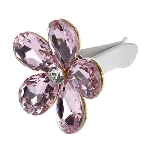 TOOGOO Automobile aria condizionata decorazione diamante squisito fiore auto esportazione profumo decorativo decorazione d'interni di ros